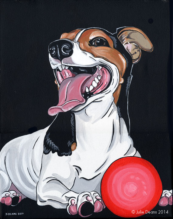 acrylic dog portrait